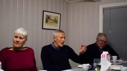 TROMØY ARBEIDERLAG: Else Marie Andersen, Nils Johannes Nilsen og Sverre Simonsen var med på årsmøtet som ble holdt på Hove. Foto: Esben Holm Eskelund
