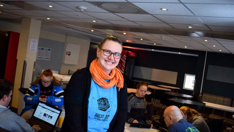 SPILLUKA: Irene Danielsen fra Tromøy er nestleder i Arendal spillklubb. Her under spilluka på Kilden i forrige uke. Foto: Esben Holm Eskelund