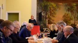 AP-ÅRSMØTE: Arendal Arbeiderparti holdt årsmøte lørdag. En av innlederne var fylkesordfører Gro Bråten. Foto: Esben Holm Eskelund