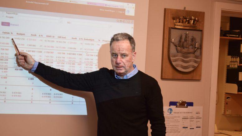 NEGATIV: Havnesjef Rune Hvass er lite interessert i småbåtanlegg på Tromøy. Han mener det kan ødelegge for havnedriften. Foto: Esben Holm Eskelund