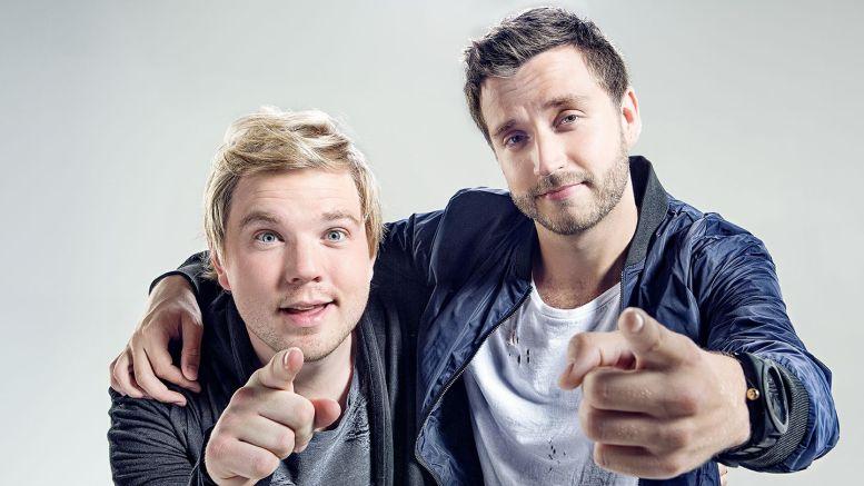 TIL IDRETTSLEIREN: Rap-duoen Skei & PT skal underholde på idrettsleiren på Hove i juni. Pressefoto