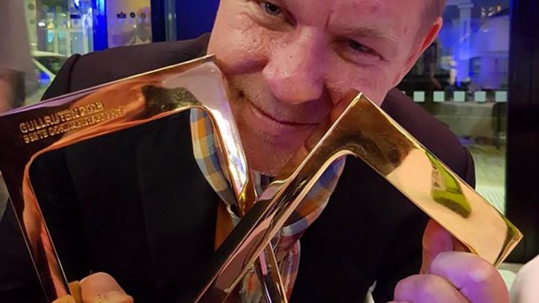 GULLRUTEN: Tromøymannen Kjetil Johnsen i Novemberfilm var en lykkelig mann i helgen etter hele to Gullruten-tildelinger. Foto: Novemberfilm