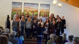 VÅRKONSERT: Tromøy Gospelkor holdt vårkonsert på menighetshuset på Tybakken sist torsdag. Foto: Esben Holm Eskelund