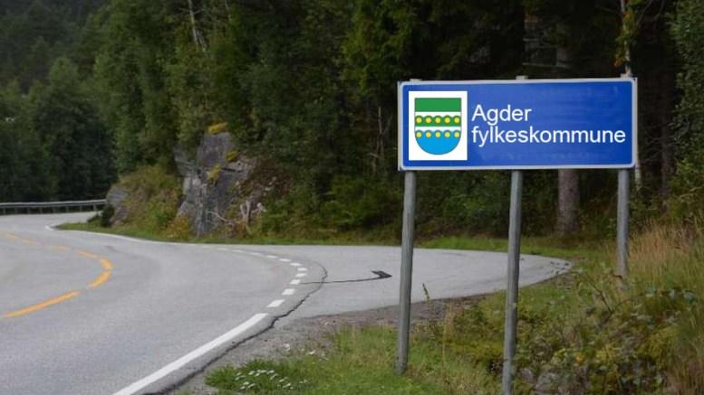 FYLKESVÅPEN: Tromøy-designer Nina Øen foreslo dette som fylkesvåpen, men nådde ikke opp i konkurransen. Også et annet tromøyforslag ble vraket i prosessen. Foto: fra forslagslisten