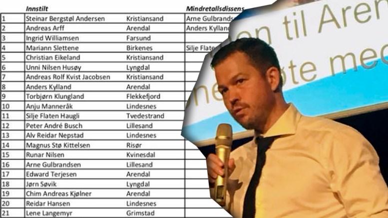 AGDER FRP: Frp-leder i Arendal, Andreas Arff, har også andre politiske ambisjoner i tillegg til fylkestinget. Foto: Privat/Montasje
