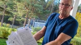 LITE INFORMASJON: Arild Nilsen har leid vognplass på Hove Camping i en årrekke. Han mener informasjonen om hva som skulle skje med campingplassen har være lite og svært generell. Foto: Esben Holm Eskelund
