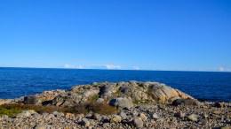 BLÅTT I BLÅTT: Hav og himmel bader i blått, men odden har også fått et blått navn. Foto: Esben Holm Eskelund