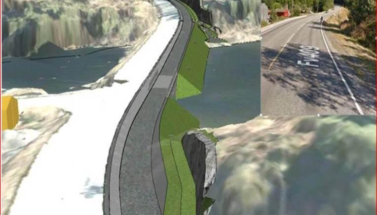 NY G/S-BRO: Slik illustrerer Statens Vegvesen en ny gang- og sykkelveibro over Ubekilen.