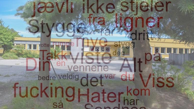 DIGITAL MOBBING: Minst ett barn ved Sandnes skole mottok anonyme meldinger via en omdiskutert app. Fotomontasje/Lokalavisen Geita