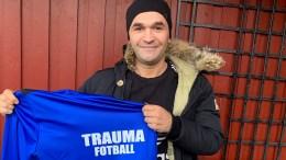 NYTT TILSKUDD: Wilhem Pepa kommer fra toppfotball i Arendal Fotball til Traumas femtedivisjonslag kommende sesong. Foto: Trauma Fotball