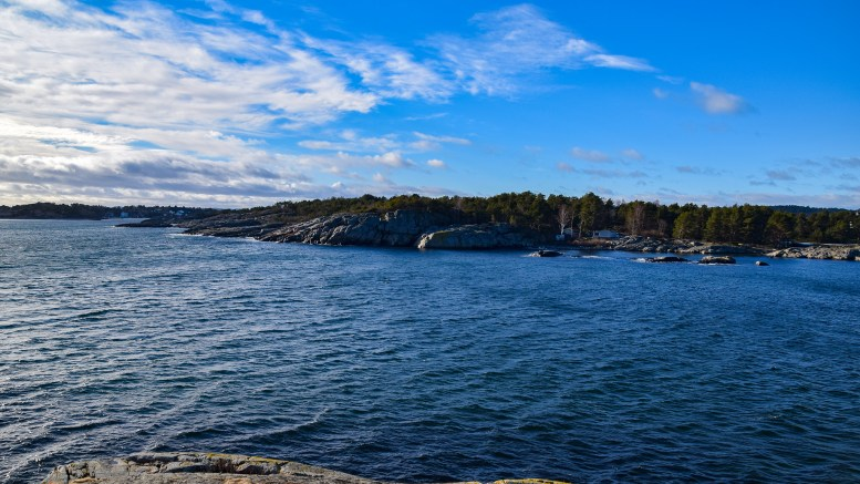 GABET I MELLOM: På Hoveodden ligger stedet med det særegne navnet. Foto: Esben Holm Eskelund