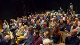 STORT FREMMØTE: Lille Torungen i Arendal kulturhus ble godt fylt da Arendal Høyre inviterte til møte om Hove-utviklingen. Foto: Esben Holm Eskelund