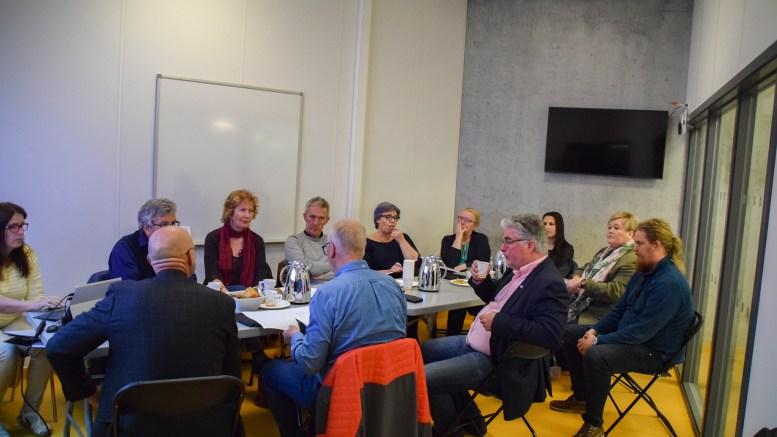 ARENDAL EIENDOM KF: Styret i det kommunale eiendomsselskapet holdt styremøte på nye Roligheden skole sist uke. Foto: Esben Holm Eskelund