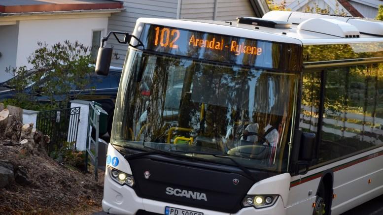 BUSSTILBUDET: Agder kollektivtrafikk legger opp til stor bedring på vesterenden, mens tilbudet på østerenden svekkes. Illustrasjonsfoto