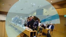 BYSTYREKABALEN: Bystyret i Arendal skal velges 9. september i år, og nykommerpartiet Hovelista ligger an til å få inn representanter. Foto: Esben Holm Eskelund/Montasje