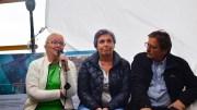 PÅ SIDELINJEN: Lokalpolitikerne Milly Olimstad Grundesen (Sp), Vanja Grut (Ap), Torbjørn Nilsen (Frp) og Birte Simonsen (MDG) ble satt på sidelinjen i debatten om nasjonalparker under Arendalsuka. Noen av dem fikk likevel sagt litt av det de hadde tenkt å ta opp. Foto: Esben Holm Eskelund