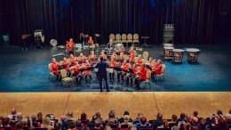 TROMØY REGIONMESTER: Tromøy skolemusikkorps gikk til topps i tredjedivisjon i regionmesterskapet for korps i Arendal kulturhus søndag. Foto: Esben Holm Eskelund