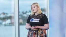 IDOL-DELTAKER: Anne Gundersen (19) prøver seg i sangkonkurransen Idol på TV2. Foto: TV2