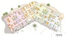 MARISBERG BARNEHAGE: Barnehagen kan krympes eller bygges for utvidelse, alt ettersom bystyret bevilger mer penger eller ikke til prosjektet. Illustrasjon: Trafo Arkitektur