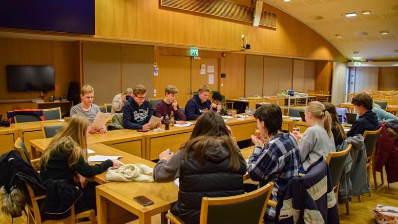 UNGDOMMENS BYSTYRE: Ungdommene i rådet representerer unge både i grunnskolen- og videregående skole i Arendal. Foto: Esben Holm Eskelund