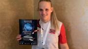 IRISH OPEN: Tromøy-kvinnen Amalie Anker Johansson dro hjem fra Irland med sølvmedalje i kickbokserstevne. Foto: Privat / Facebook