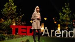 TEDX UTSATT: I fjor sto tromøykvinnen Ane Skjævestad på scenen og holdt Tedx-foredrag. I år blir det ikke noe av arrangementet på grunn av koronapandemien. Arkivfoto