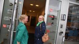 SP-VEKST: Siv Brekka (t.v.) leder Senterpartiet i Arendal. Nå får partiets Milly Grundesen, Ingjerd Livolden og Erik Fløystad følge av to av Hovelista-utbryterne. Arkivfoto