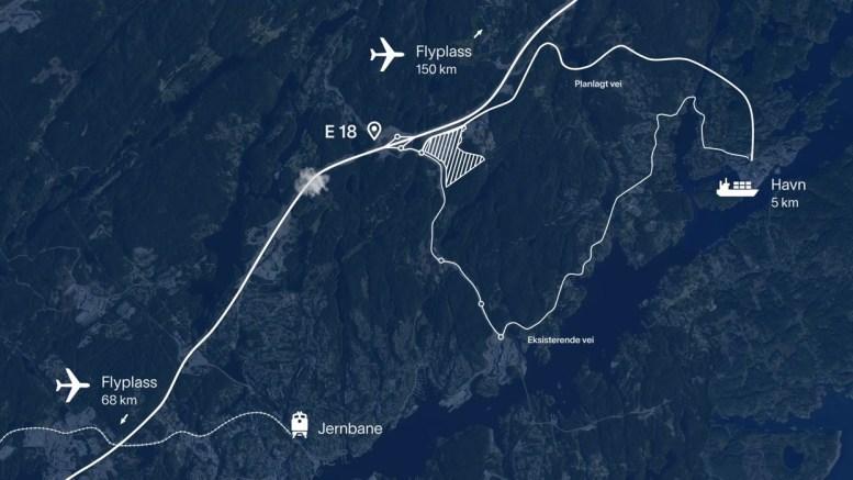 FRIR TIL MORROW: Arendal kommune frir til selskapet som vurderer Arendal for lokalisering av batterifabrikk med flere tusen arbeidsplasser. Foto: Arendal kommune / Youtube