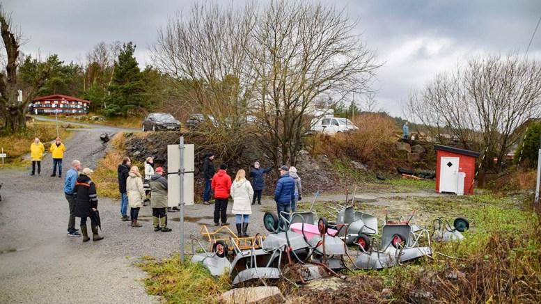 FRIOMRÅDE: Etter å ha sett friarealet var skepsisen mot å si ja til å omregulere for bygging av garasje ikke lenger til stede hos politikerne. Foto: Esben Holm Eskelund