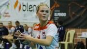 NYE HÅNDBALLMÅL: Fanny Skindlo (19) fra Tromøy er i ferd med å avansere i håndballmiljøet og skal snart flytte på seg. Arkivfoto / Luis Neves