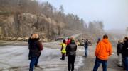KRØGENES-KRATERET: I flere år har området på Krøgenes utviklet seg til å bli et krater. Nå åpner politikerne for handels- og næringsvirksomhet også her. Foto: Esben Holm Eskelund