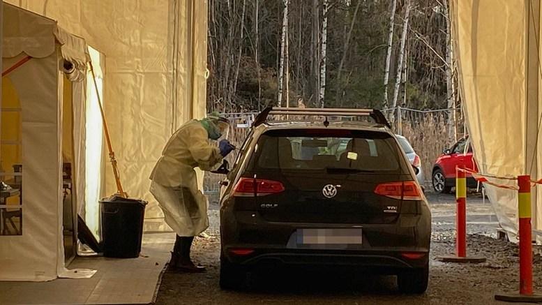 HEFTIGSTE SMITTEDAG: Aldri tidligere i pandemien har det blitt registrert flere koronasmittede på en dag i Arendal enn tirsdag. Foto: Esben Holm Eskelund