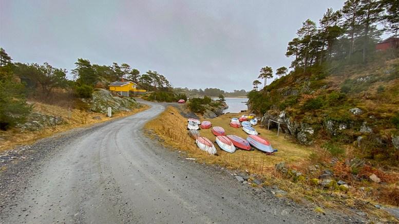 SANDBEKKEN: Hytteområde mellom Alve og Skare. Foto: Esben Holm Eskelund