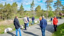 DISPENSASJONSFELT: Kommuneplanutvalgets flertall gikk inn for å gi enda en dispensasjon til fradeling fra LNF-eiendommen langs Tromøy kirkevei. Foto: Esben Holm Eskelund