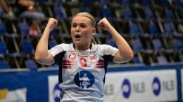 STORTALENT: Tidligere Trauma-spiller Fanny Skindlo, nå eliteseriedebutant i Tertnes, omtales som et av de største unge håndballtalentene Norge har å by på for tiden. Foto: EHF/Håndball.no