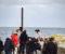 SLAVESKIPET FREDENSBORG: Flere lokale aktører er med i dokumentarfilmen om slaveskipet Fredensborg, som ble funnet av tre lokale dykkere ved Tromøy i 1974. På Bjellandstrand ble det spilt inn dramatiske scener i fjor høst. Foto: Esben Holm Eskelund