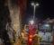PIPEBRANN: Brannvesenet rykket fredag kveld ut til pipebrann på Timberstrand. Foto: Esben Holm Eskelund