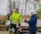 BJELLAND-HALL: Utvalgsleder Milly Olimstad Grundesen (Sp) var svært direkte i spørsmålsstillingen til tiltakshaver og bonde Frode Madsen. Foto: Esben Holm Eskelund