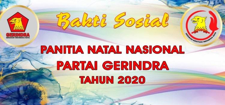 Bakti Sosial Panitia Natal Nasional Partai Gerindra Tahun 2020