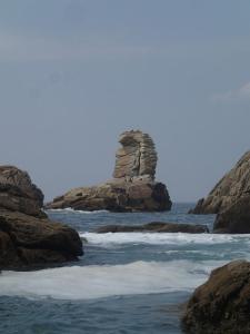 prachtige rots aan de cote sauvage van Quiberon
