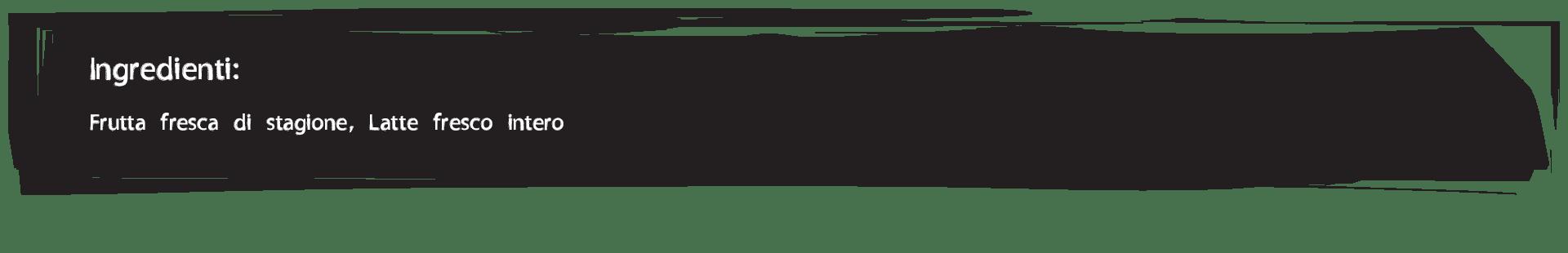 Gelateria Millennium, ingredienti frullati