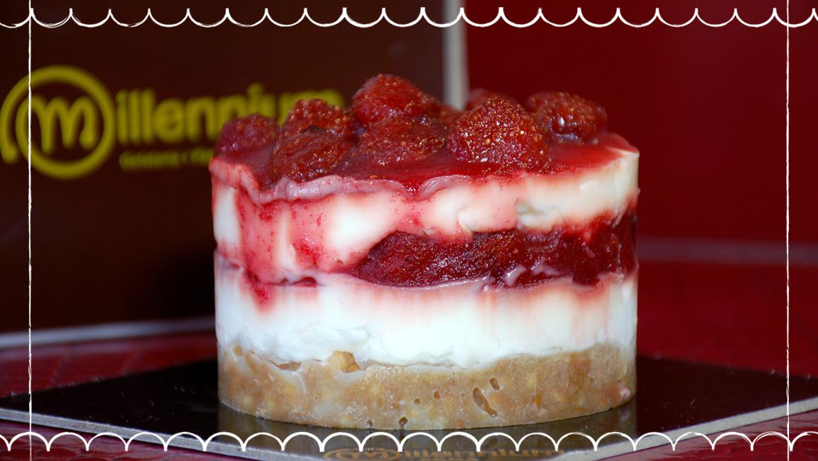 Millennium Gelateria a Roma Prati - cheesecake con fragoline