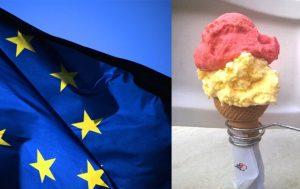 Europa-Bandiera-Europea + cono + articolo