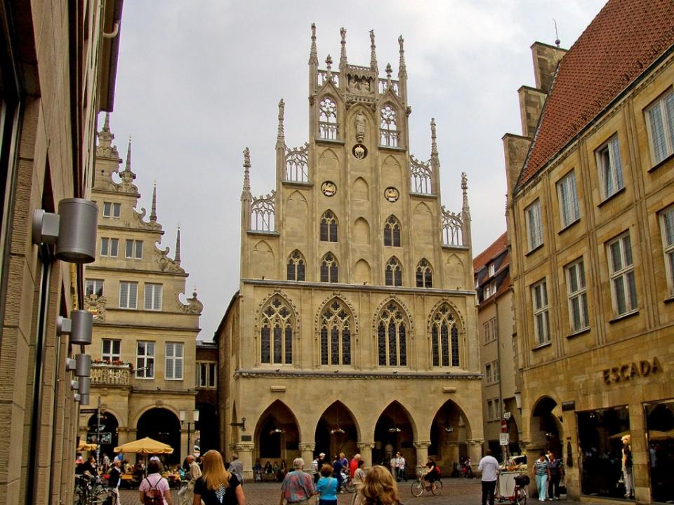 Het fraaie oude centrum van Münster