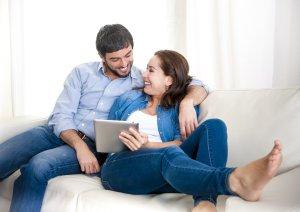 geld lenen gelukkig echtpaar