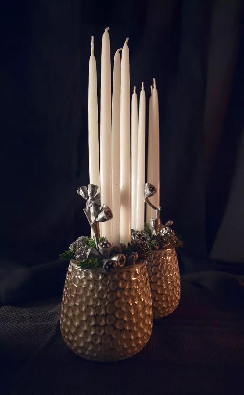 Kalėdinė dekoracija Žvakės