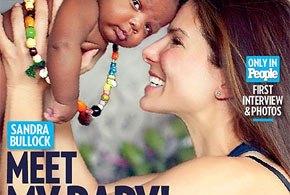 Solteira e em segredo, Sandra Bullock adota um bebê de Nova Orleans