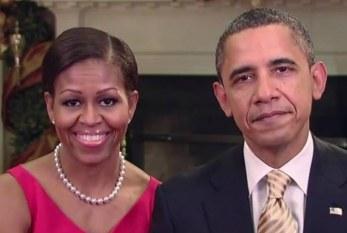 Obama e Michelle agradecem às tropas americanas em mensagem de Natal