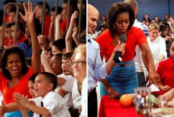 Michelle Obama anima crianças em reality show