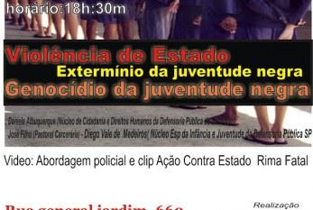 18 de Julho – Violência de Estado: Genocído da juventude negra